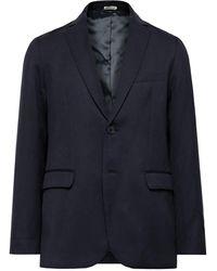 Blue Blue Japan Slim-fit Wool Suit Jacket - Blue