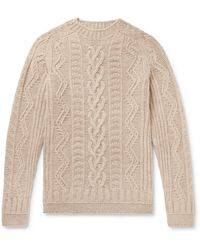 Howlin' By Morrison Supercult Cable-knit Virgin Wool Jumper - Multicolour