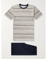 Zimmerli Striped Cotton-jersey Pyjama Set - Multicolour
