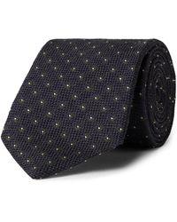 Bigi 8.5cm Silk And Wool-blend Jacquard Tie - Blue