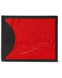 Christian Louboutin Logo-debossed Leather And Pu Billfold Wallet - Black