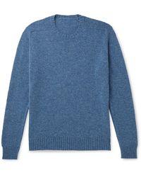 Anderson & Sheppard Shetland Wool Sweater - Blue