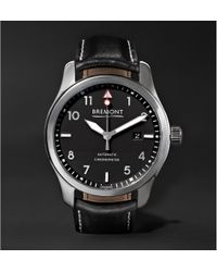 Bremont - Solo/pb Automatic 43mm Stainless Steel And Leather Watch - Lyst