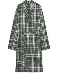 Hanro - Loran Checked Cotton Robe - Lyst