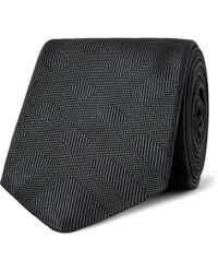 Burberry - 6cm Checked Silk-jacquard Tie - Lyst