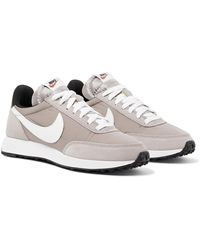 Nike Air Tailwind 79 Shell, Suede And Leather Trainers - Gray
