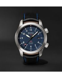 Bremont - Mbii Blue Automatic 43mm Stainless Steel And Leather Watch, Ref. Mbii-ss-bl-c-b-p-13r - Lyst
