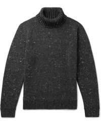 Inis Meáin Donegal Merino Wool And Cashmere-blend Rollneck Jumper - Grey