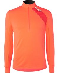 Soar Running Mid-temperature Half-zip Stretch-jersey Top - Orange