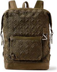 Bottega Veneta Intrecciato Webbing Backpack - Green