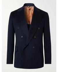 Loro Piana Double-breasted Cashmere Blazer - Blue