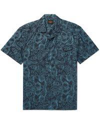 Tod's Camp-collar Printed Cotton Shirt - Blue