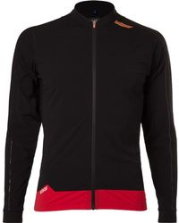 Soar Running Zip-through Stretch-jersey Top - Black