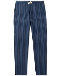 Oliver Spencer - Farrow Striped Organic Cotton Pyjama Trousers - Lyst