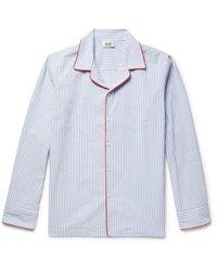 Sleepy Jones | Henry Striped Textured-cotton Pyjama Shirt | Lyst