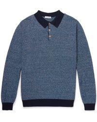 Boglioli - Slim-fit Mélange Knitted Polo Shirt - Lyst