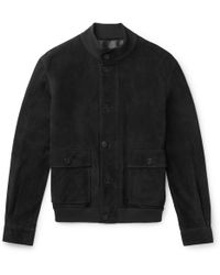 The Row - James Suede Bomber Jacket - Lyst
