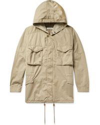 Nonnative + Liberty London Hunter Cotton And Linen-blend Twill Hooded Field Jacket - Natural