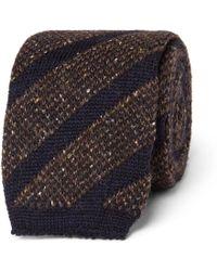Altea - 6cm Knitted Wool-blend Tie - Lyst