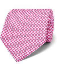 Emma Willis 8cm Floral Silk-jacquard Tie - Pink
