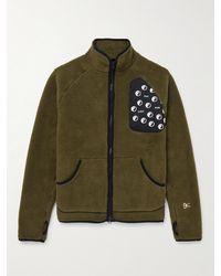 District Vision Greg Shell-trimmed Fleece Jacket - Green