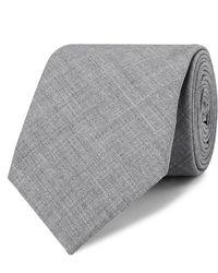 Brunello Cucinelli 7cm Mélange Virgin Wool Tie - Grey
