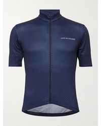 Café du Cycliste Fleurette Printed Cycling Jersey - Blue