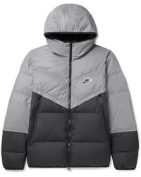 Nike Windrunner Reflective Quilted Shell Hooded Jacket - Black