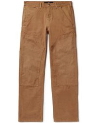 Billy Wide-leg Cotton-canvas Cargo Pants - Brown