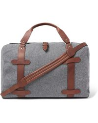 Brunello Cucinelli - Leather-trimmed Wool Holdall - Lyst