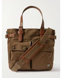 Belstaff Touring Leather-trimmed Nylon Tote Bag - Brown