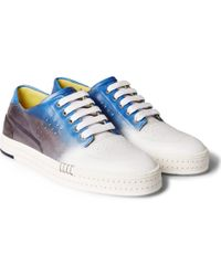 Berluti - - Playtime Dégradé Polished-leather Sneakers - Blue - Lyst