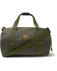 Filson - Leather-trimmed Twill Duffle Bag - Lyst