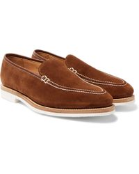 George Cleverley - Riviera Suede Loafers - Lyst