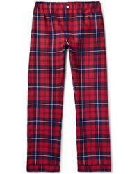Sleepy Jones - Marcel Checked Cotton-flannel Pyjama Trousers - Lyst