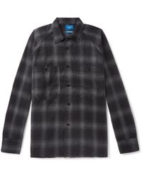 Beams Plus - Checked Brushed-cotton Overshirt - Lyst