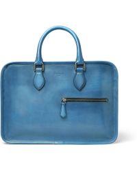 Berluti Un Jour Mini Leather Briefcase - Blue