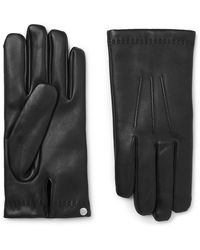 Mulberry Cashmere-lined Leather Gloves - Black
