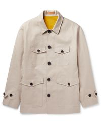 CONNOLLY Coated-cotton Jacket - Natural