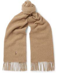 Polo Ralph Lauren - Fringed Virgin Wool Scarf - Lyst