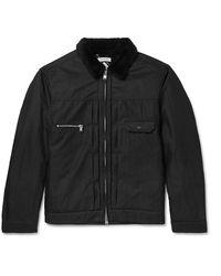 Nonnative Faux Shearling-trimmed Gore-tex Infinium Jacket - Black