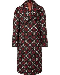 Gucci - Double-breasted Logo Wool Coat - Lyst