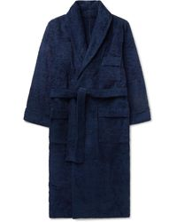 Anderson & Sheppard Cotton-terry Robe - Blue