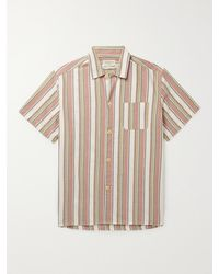 Oliver Spencer Canvey Striped Organic Cotton-twill Pyjama Shirt - Multicolour