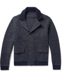 Thom Sweeney - Two-tone Cashmere And Virgin Wool-blend Cardigan - Lyst