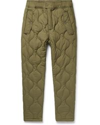 Aimé Leon Dore Woolrich Quilted Padded Stretch-ripstop Trousers - Green