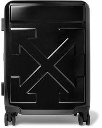 Off-White c/o Virgil Abloh Arrow Polycarbonate Carry-on Suitcase - Black
