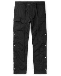 Fear Of God Black Slim-fit Shell Drawstring Cargo Pants