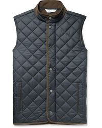 Peter Millar Essex Microfibre-trimmed Quilted Shell Gilet - Black