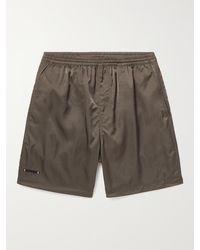 True Tribe Neat Steve Mid-length Iridescent Econyl Swim Shorts - Green